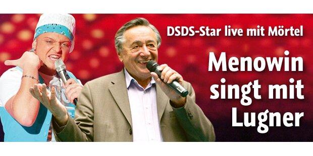 DSDS-Menowin singt Duett mit Lugner
