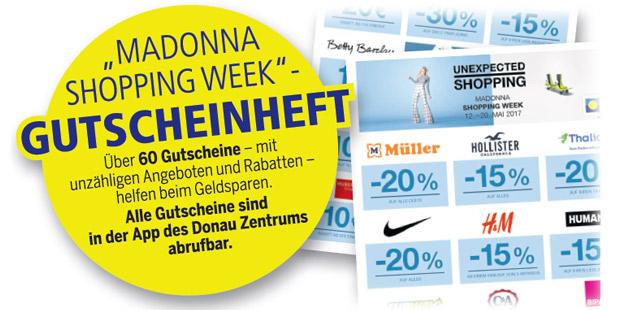 Madonna Shopping Week Donau Zentrum Gutscheine