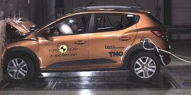 Neuester Crashtest: VW & Skoda top, Dacia mies