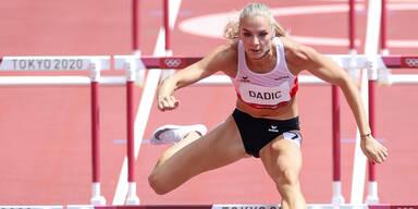 Ivona Dadic beim Siebenkampf (Hürdenlauf) der Olympischen Spiele