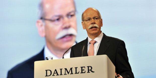 Daimler treibt Aufbau von Wasserstoff-Tankstellen voran