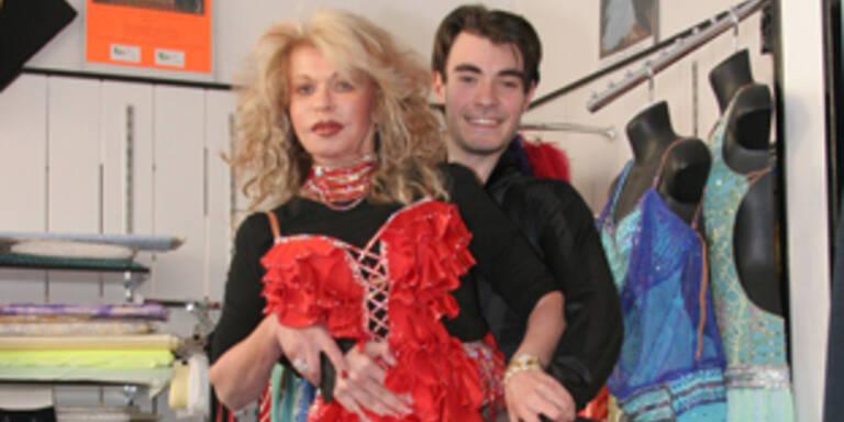 Jeannine Schiller mit Tanzlehrer Andre