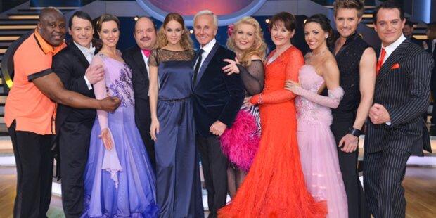 Dancing Stars nur mehr zu neunt im Ballroom