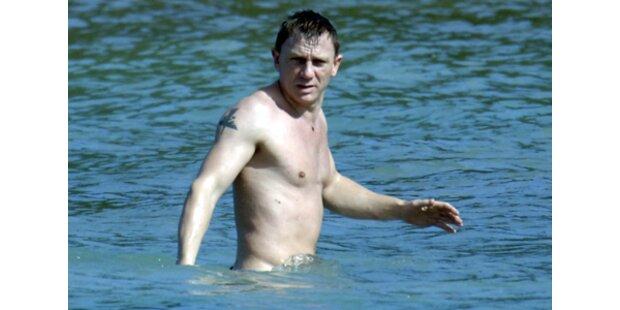 Lizenz zum Sexysein: Daniel Craig am Strand