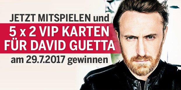 5 x 2 VIP-Karten für das David Guetta Konzert in Wien gewinnen