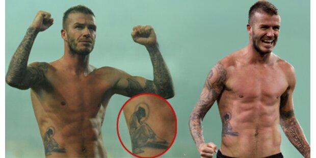 David Beckham enthüllt neues Tattoo