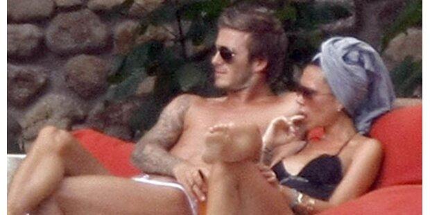 Beckhams: 10. Hochzeitstag am Strand