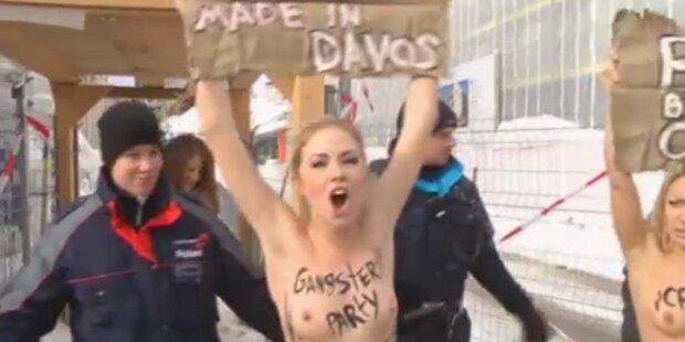 Weltwirtschaftsforum: Nackter Frauenprotest