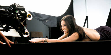 Demi Moore beim Rubinstein-Shooting