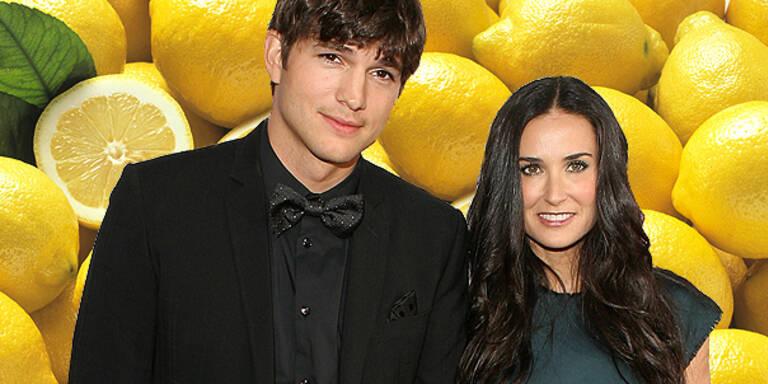 Demi Moore und Ashton Kutcher auf Zitronen-Kur