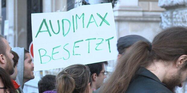 Uni Wien: Besetzer weiterhin im Audimax
