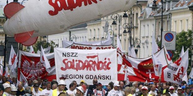 Großdemo legte Warschau lahm