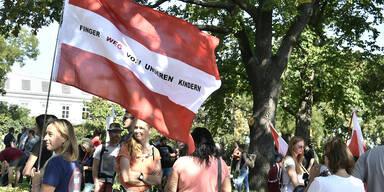 Rund 2.000 Teilnehmer bei Anti-Corona-Demo in Wien