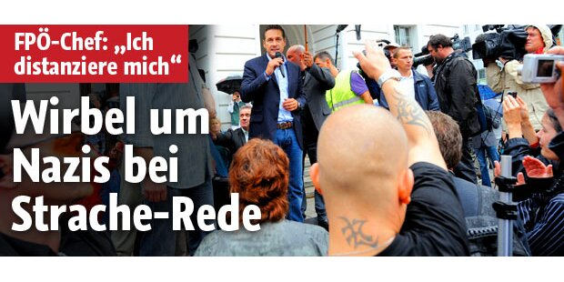 Anti-Islam-Demo: Neo-Nazis bei Strache