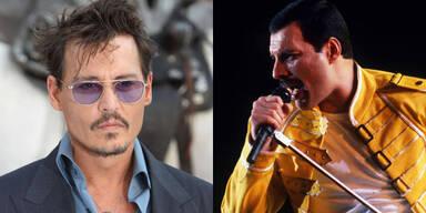 Johnny Depp und Freddy Mercury