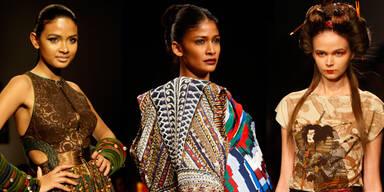 Der Orient blickt nach Westen - Indien Fashion Week