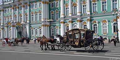 Der Winterpalast mit der berühmten Eremitage