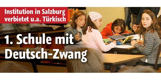 Erste Schule mit Deutsch-Zwang