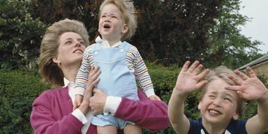 Diana mit William und Harry als Kinder
