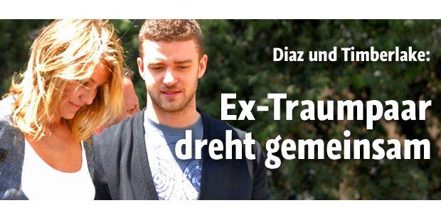 Ex-Traumpaar Diaz & Timberlake beim Dreh