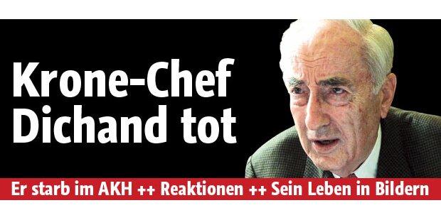 Hans Dichand ist tot: Krone-Chef gestorben