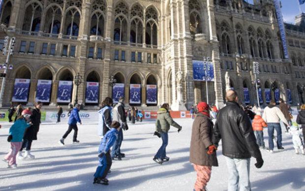 Eislauf-Saison in Wien hat begonnen