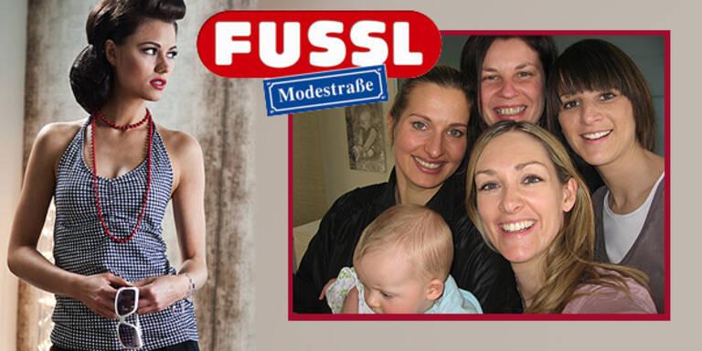 Die Gewinnerin von 'Four Girls in the City' FUSSL Modestraße