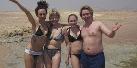 Die Lugners am Nil: Katzis Gegner - Mausi mit ihrer Mutter, Jacky & Helmut
