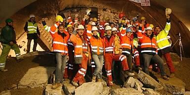 Die Tunnelarbeiten gehen voran