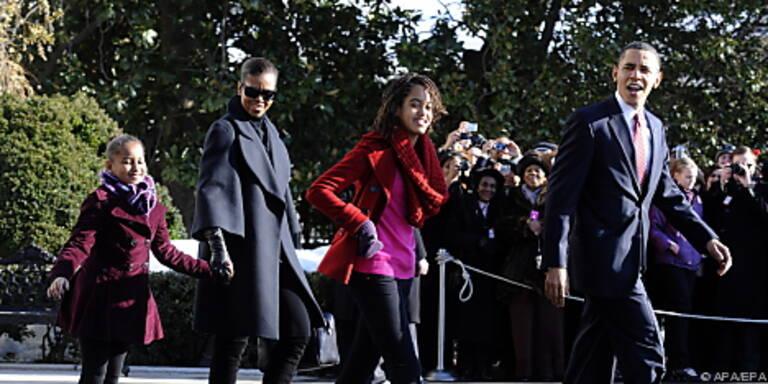 """Die """"First Family"""" der Abreise aus dem Weißen Haus"""