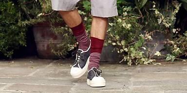 Die bunte Socke muss nicht unbedingt flippig sein