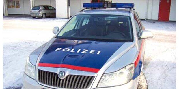 Betrunkener tanzt auf Polizei-Auto herum