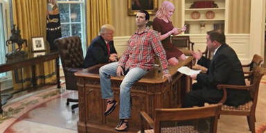 So lacht das Netz über steifen Donald Trump Jr.