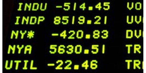 Dow Jones verliert mehr als 3%
