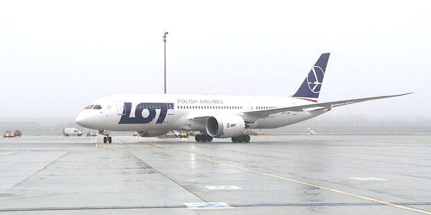 Boeing Dreamliner in Wien gelandet