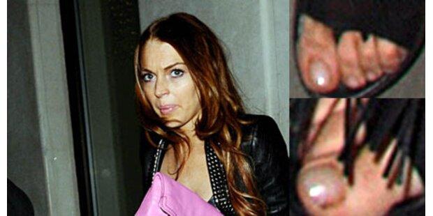Wäscht Lindsay Lohan ihre Füße nicht?