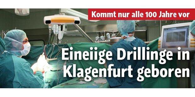 Eineiige Drillinge in Klagenfurt geboren