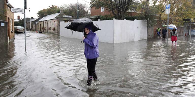 Hochwasser in Dublin: Zwei Tote