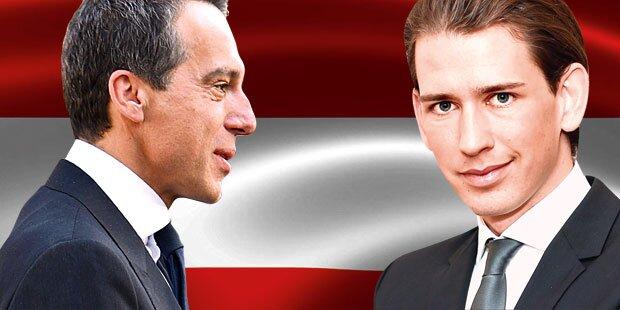 Kern gegen Kurz: Duell um Österreich