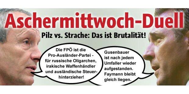 Brutales Rede-Match Pilz gegen Strache