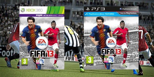 FIFA 13: Alaba und Messi als Cover-Stars