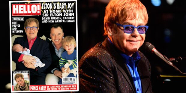Elton John zeigt seinen Sohn Elijah