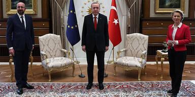EU-Spitzen beraten mit Erdogan über Beziehung