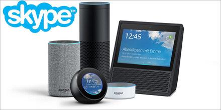 Mit Alexa kann man jetzt auch skypen