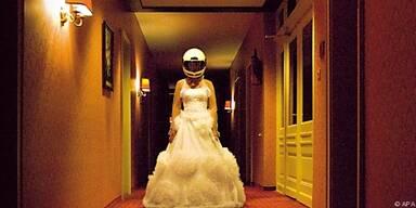 Ein Braut am Rande des Nervenzusammenbruchs