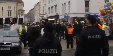 Eine Festnahme & 30 Anzeigen bei Corona-Demo in Wiener Neustadt