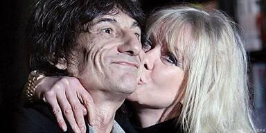 Einst ein glückliches Paar: Wood und Ehefrau Jo