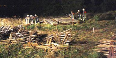 60-Jährige wurde unter Holzhütte begraben