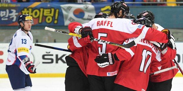 Eishockey-B-WM: Österreich besiegt Südkorea 5:0
