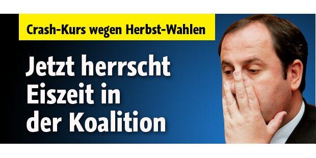 Eiszeit in der Koalition: ÖVP unter Druck